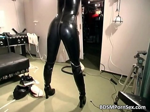 Latex bondage sex video