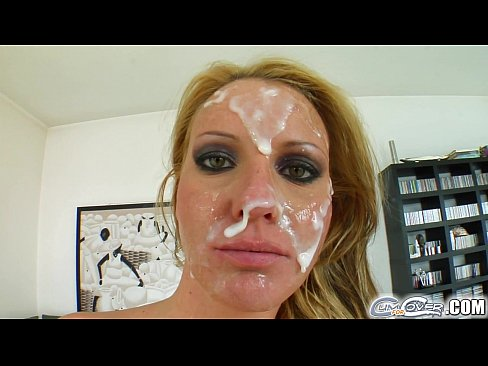 Cum baths on face