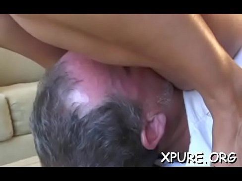 Domina smothers chubby lad