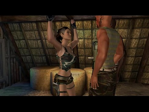 Want sex lara croft threesome julia let