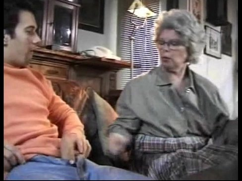 Granny catches grandson jerking off