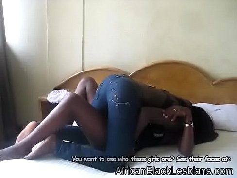 Stunning African babes go wild in a cheap hotel room