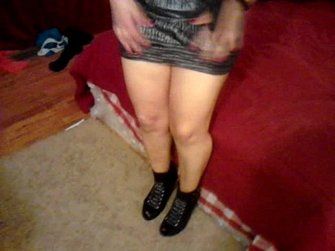 Cogiendo con mi mujer vestida de putita con ese vestido corto