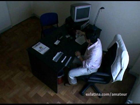 Hidden camera secretary sex