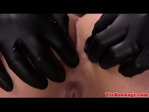 Sub pussy and anal toyed by bdsm maledom
