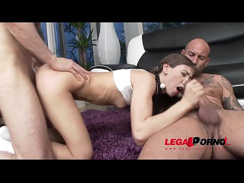 Sweet Stephanie Moon 3on1 AirTight Hardcore Balls Deep Fuck