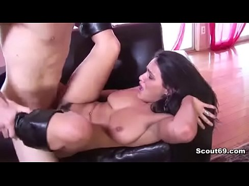 German Mother get caught by step-son during masturbation and fuck