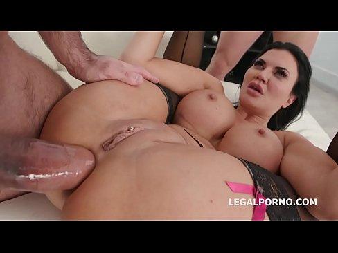 Fucking Wet 4on1 with Jasmine Jae Balls Deep DAP & Squirting Asshole