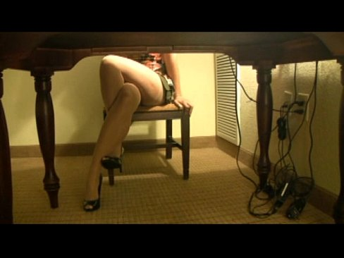 lady wets sofa with her pee