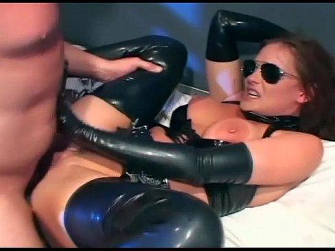 Uniformed female cop fucking in latex lingerie 4