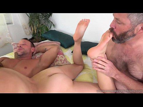 Cum Eating Cuckolds - Zoey Foxx fucks her lover as her hubby watches