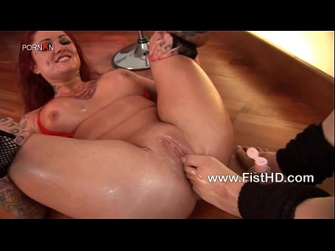 Busty lesbians fisting and feet fucking
