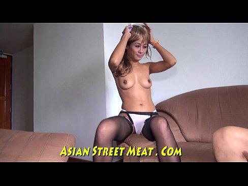 Tattooed Pump Action Asian Silky Sperm Goblet