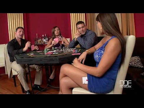 Two Incredible babes fucked hard in the casino 33 min