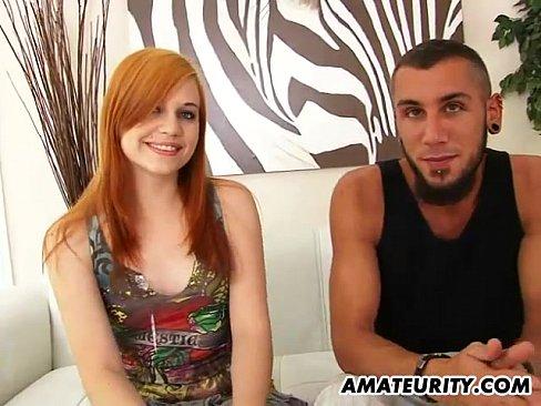 20 min Redhead amateur girlfriend sucks and fucks at home hot girl