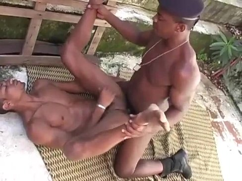 Hot black cop ass fucks horny ebony