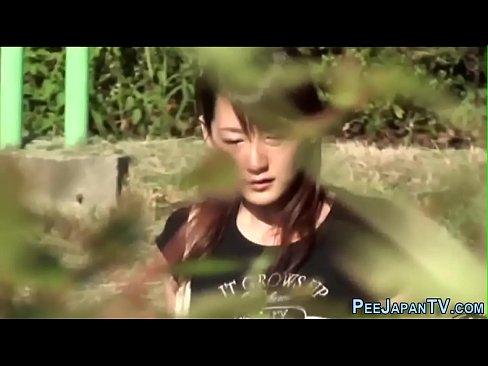 Weird asian pissing park
