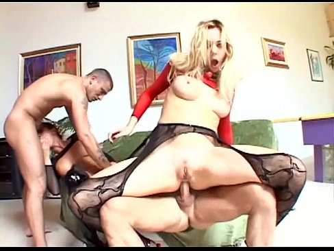 Two kinky babes in sexy lingerie have a foursome