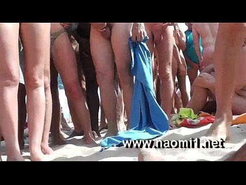 Handjob on a beach by naomi1