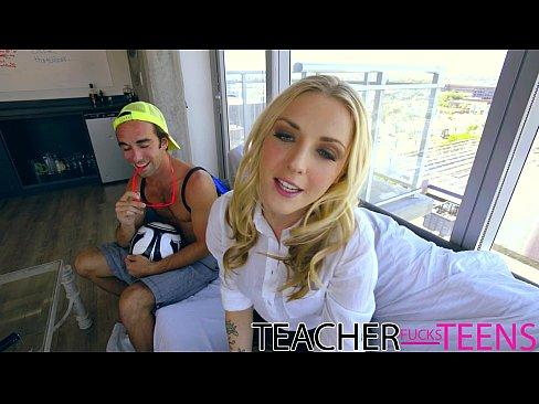 Teacher seduces student cock and young girlfriends