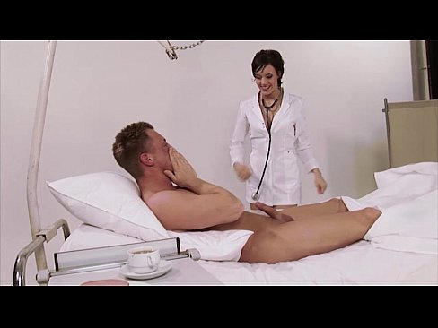 German, nurse, uniform, hospital, big natural tits, brunette, high heels, big co