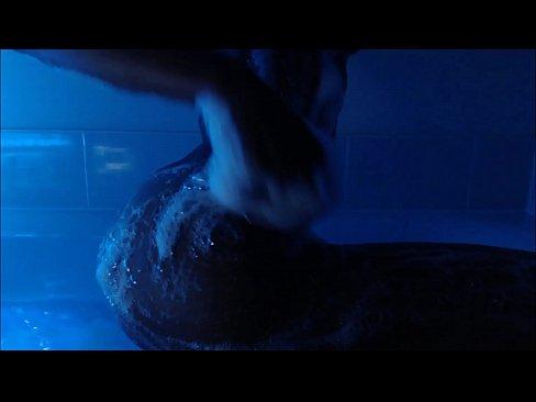 Aqua Lounge Wet Bath Fingering Neon Lights 11 min