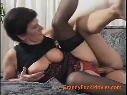 Fucked Old slut from behind hard