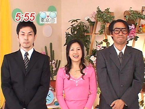 【杉崎夏希】生放送中の女子アナにメイドコスプレをさせてまさかの生セック...