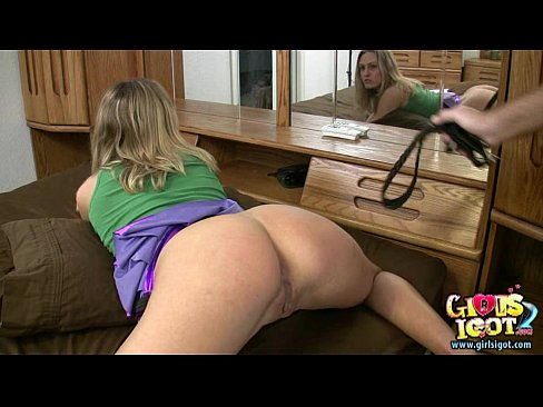 Spanked wife gets her ass red by amateur BFF