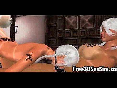 Three sexy 3D cartoon lesbian hotties have group sex [変態アニメポルノ Lesbian HentaiPornTube.net]