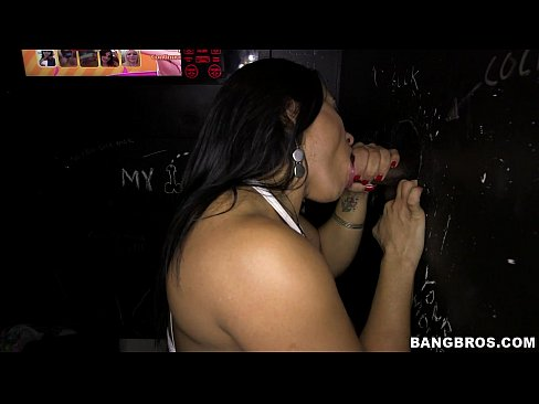 Fitness Chick enjoys some Glory Hole Loads