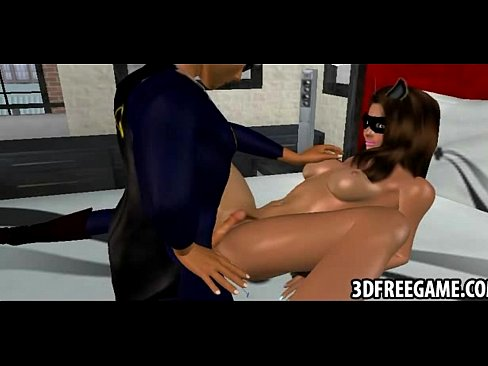 A hot 3D catwoman is getting her pussy pounded  [Hentai Anime 3D Porn HentaiPornTube.net]