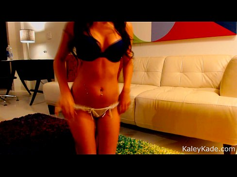 Brunette Babe Kaley Kade Striptease with Webcam 4 min HD