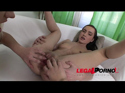 Young and horny Jenny gets her pussy fisted and ultra gaped by Julia