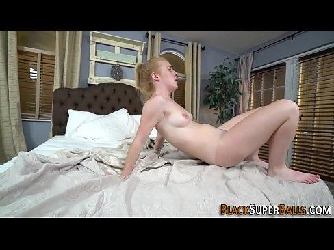 Blonde fucks black shlong