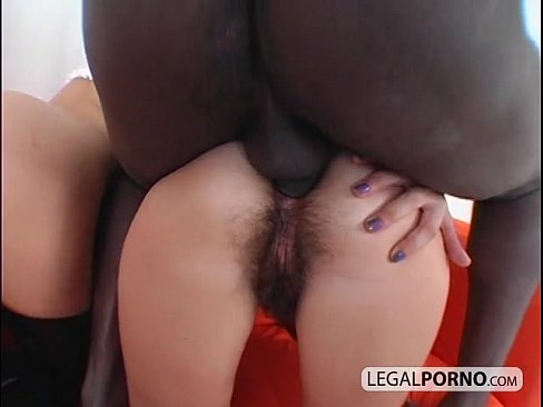 Two sexy brunettes in a threesome with a big black cock SB-3-01