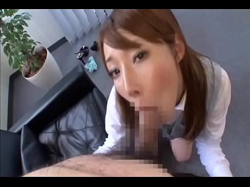 精子をひたすら搾り取る性欲処理課の美人OLの超絶ごっくんフェラテクニック