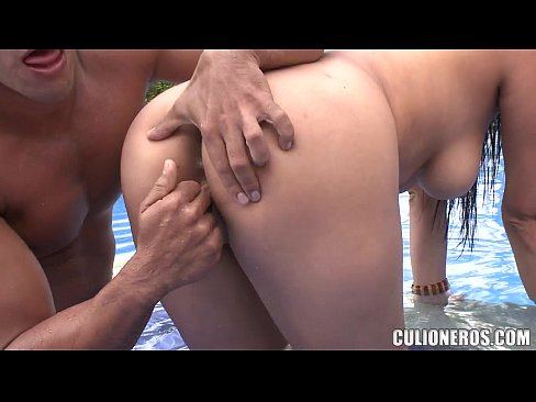 Colombian Juliana By The Pool with Big Ass and Big Tits