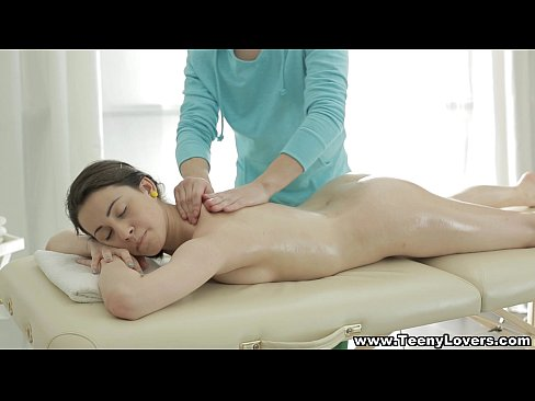 Teeny Lovers - Teeny fucked on massage table