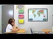 Professor fazendo a aluna peituda gemer