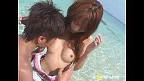 小田切ジュン イケメン男優と海デート♥密着してくる彼の手は水着の中に入り・・・