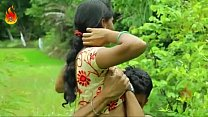 sweet indian desi woman poking romance outdoor s…