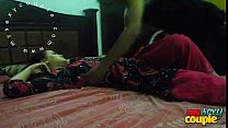 indian couple sunny and sonia in bedroom hardco…