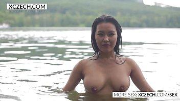 wet beauty originating in Asia is tempting outdoor