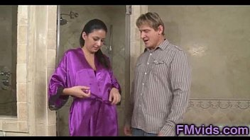 beautiful Nikki Daniels like to play hard is pleasuring a guy with a hand in the shower
