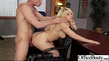 Kagney Linn Karter with big tits is fucking in the office