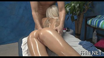 sexy lady with nice ass are lubricated with oil
