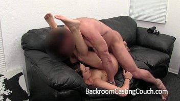 Girl Next Door Gets Ambush Creampie on Casting Couch  #67292