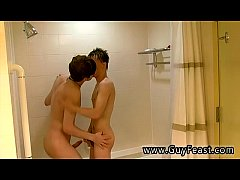 Horny Twink Boys Suck Each Other Off In The Shower
