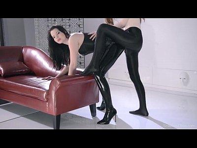 hardcore girl on girl strap on
